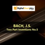 JS Bach - Two Part Inventions No.5 Sheet Music (Download)