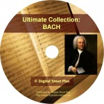Ultimate Collection: BACH Sheet Music on CD