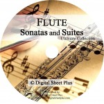Ultimate Collection: FLUTE SONATAS and SUITES Sheet Music on DVD