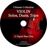 Ultimate Collection: Violin Solo, Duets, Trios Sheet Music on DVD