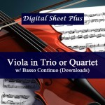 Viola in Trio or Quartet with Basso Continuo Collection