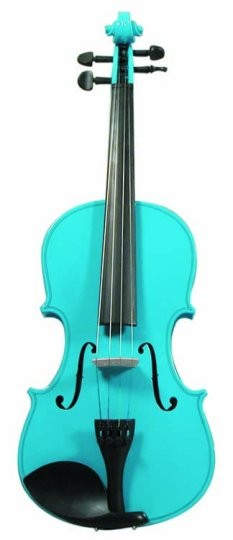 Buy Merano Full Size Light Blue Violin With Case Free