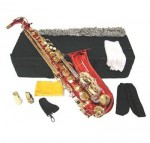 Red Lacquer Eb Alto Sax with Case and Accessories Saxophone free shipping
