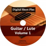 Guitar / Lute Volume 1 Ultimate Sheet Music DVD Collection