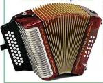Hohner Accordion Corona III Supreme with Gold trim bag