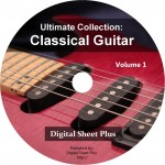 Ultimate Collection: Classical Guitar Volume 1 Sheet Music DVD