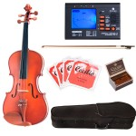Cecilio CVA-400 Solidwood Rosewood Fitted Viola Package with Tuner, Case, Bow, Rosin & Extra Set Strings
