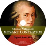 Mozart Concertos Sheet Music Ultimate Collection (CD)