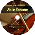 Ultimate Collection: VIOLIN SONATAS Sheet Music on DVD