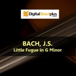 JS bach - Little Fugue in G Minor piano Sheet music (Download)