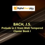 JS Bach - Prelude in C from Well Tempered Clavier Book I Sheet Music (Download)