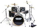 TKO 430 5-Piece Drum Set with Cymbals, Boomstand and Throne