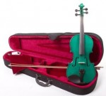4/4 Full Size Handcrafted Green Violin - Fiddle with Case and Bow