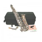 Nickel Plated Eb Alto Sax with Case and Accessories Saxophone free shipping