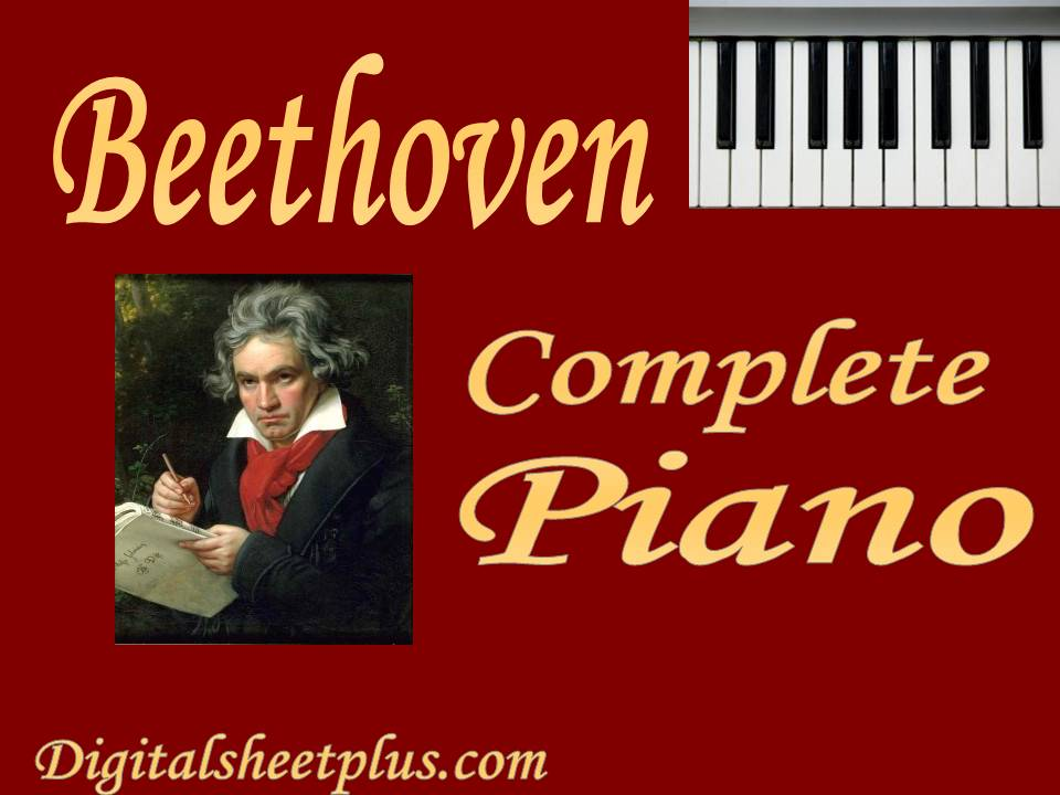 Beethoven Piano Complete Sheet Music Collection