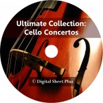 Ultimate Collection: CELLO CONCERTOS sheet music on DVD