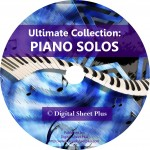 Ultimate Collection: Solo Piano Sheet Music Collection on DVD