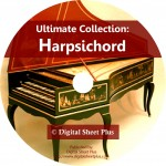 Ultimate Collection: HARPSICHORD Sheet Music on CD