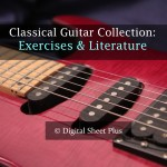Exercises and Literature for Classical Guitar sheet music collection