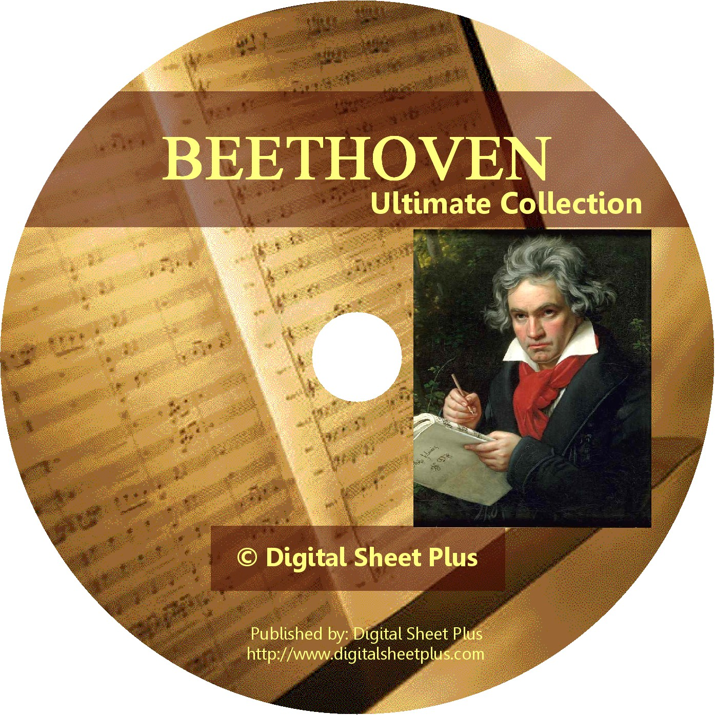 Ultimate Collection Beethoven Sheet Music On Cd