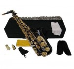 Black Lacquer Eb Alto Sax with Case and Accessories Saxophone free shipping