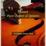 Mozart Piano Quartets and Quintets Sheet Music