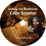Ludwig van Beethoven Cello Sonatas Sheet Music Collection CD