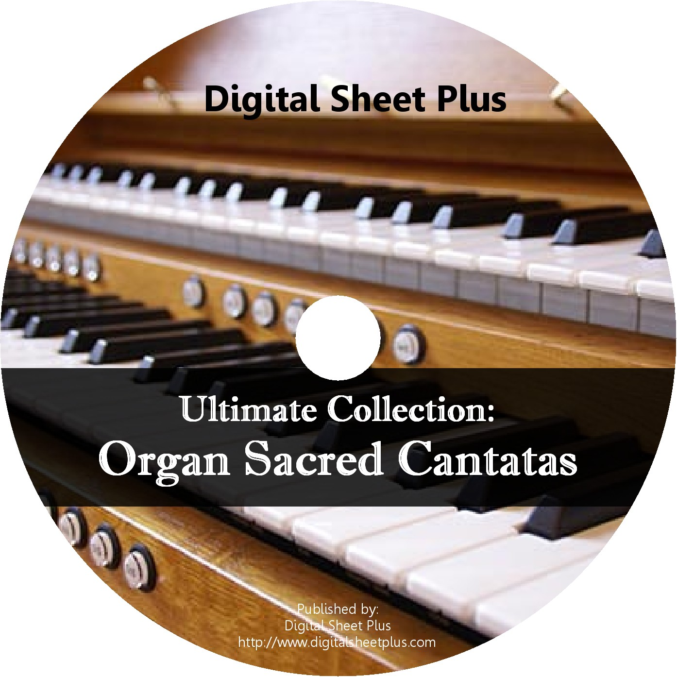 Organ Sacred Cantatas Sheet Music CD