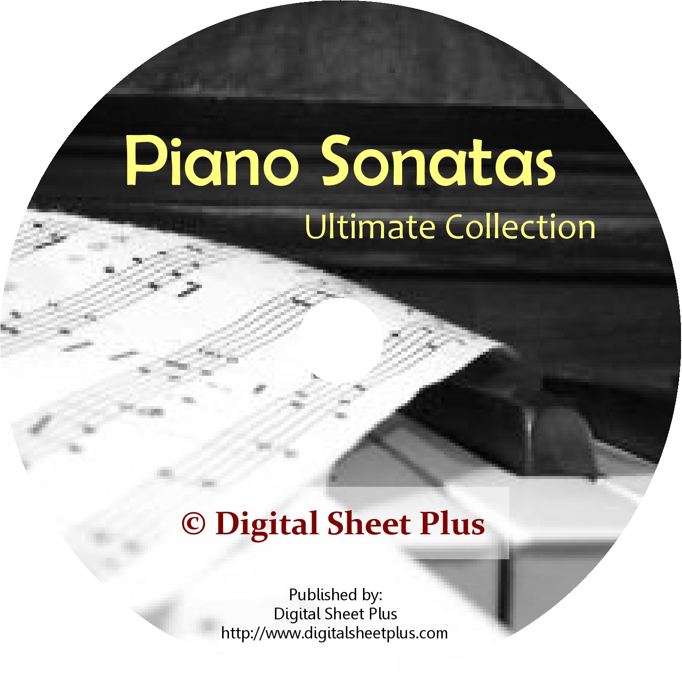 Piano Sonatas Sheet Music DVD