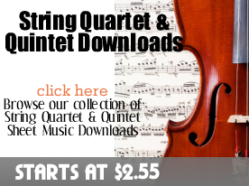 String Quartets & Quintets Downloads from digitalsheetplus.com