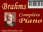 Brahms Piano Complete Sheet Music Collection