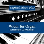 Widor for Organ Symphonies sheet music in pdf format collection