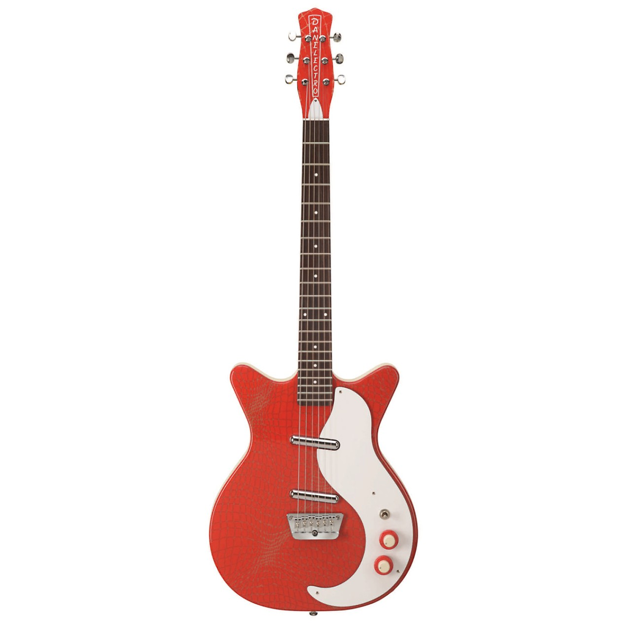 Danelectro 59 Red Alligator Double Cutaway Electric